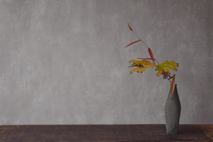 烏山結貴、ca-koのウェブサイトです。四季折々の道草。心にとまった身近な草花を、小さな発見を楽しみながら出会った器に合わせています。抛入花の写真です。葛、エノコログサを入れました。