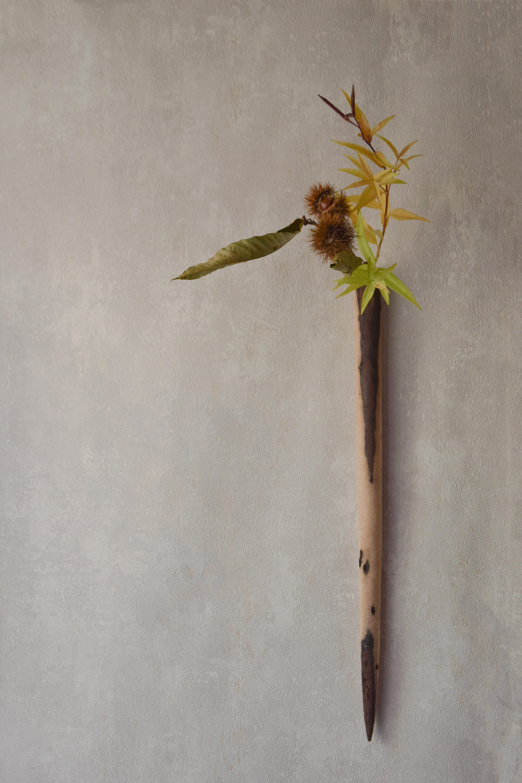 烏山結貴、ca-koのウェブサイトです。四季折々の道草。心にとまった身近な草花を、小さな発見を楽しみながら出会った器に合わせています。抛入花の写真です。栗と丁子草を入れました。